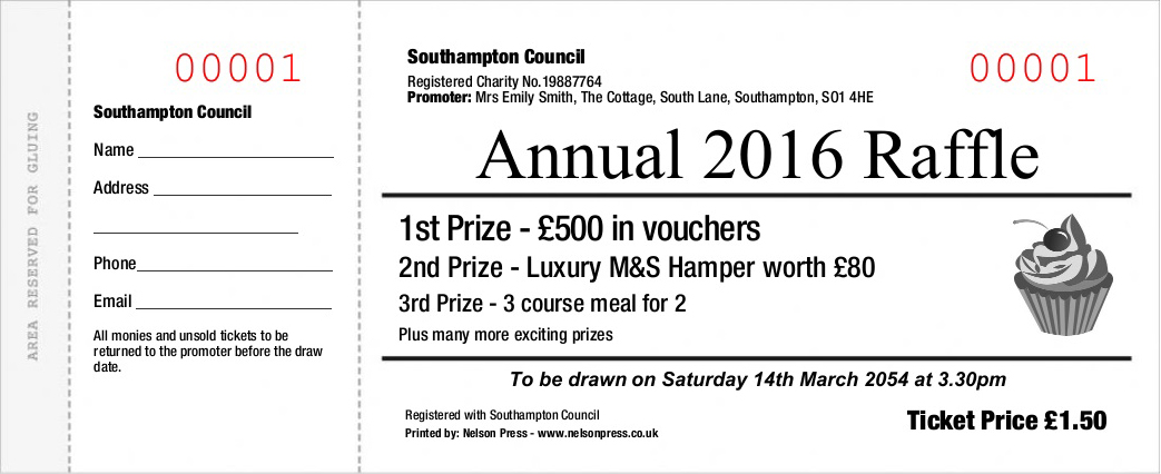 Raffle Ticket Printers - Online Order - Nelson Press